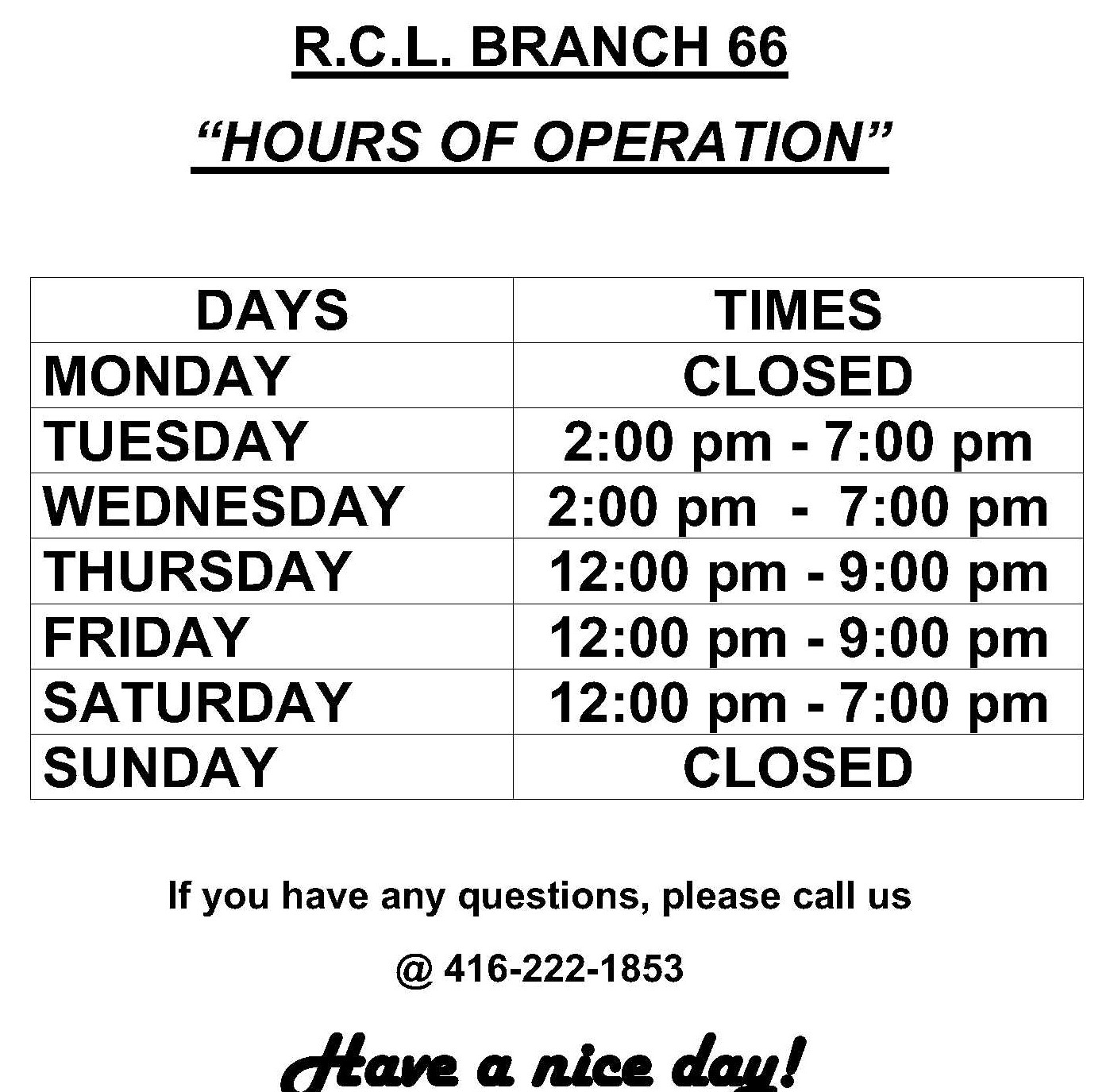 Were Open Wednesdays 2-7pm